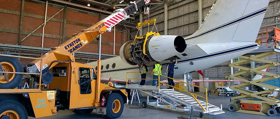 Tullamarine Crane Hire Replacing Jet Engine
